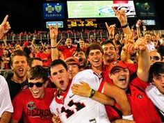 Aaron Murray celebrating with fans