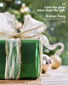 """""""Love the giver more than the gift."""""""