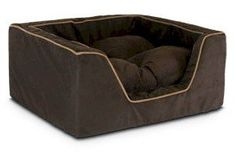 Snoozer Luxury Square Pet Bed Small Shona Brown SugarPeat * Details can be found by clicking on the image.