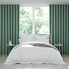 Wave Leyton Pool Green Curtains Green Curtains, White Curtains, Double Roller Blinds, Honeycomb Blinds, Natural Curtains, Blinds Online, Daughters Room, Breath Of Fresh Air, White Space