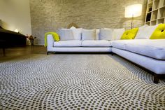 Simia Dots Wave - eleganter Nepalteppich mit schlichtem Design» Mischioff.de