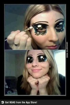 Cartoon eyes - I don't know whether to be really impressed or really freaked out...