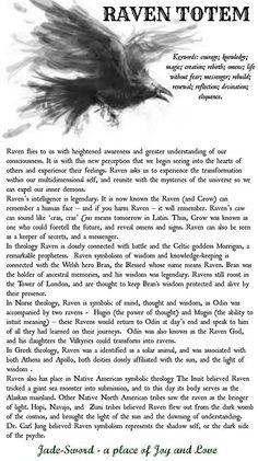 Raven Totem Meaning Raven Spirit Animal, Animal Spirit Guides, Raven Totem, Raven Art, Crow Totem, Raven And Wolf, Crow Or Raven, The Raven, Raven Queen