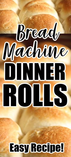 This easy bread machine recipe makes the best dinner rolls ever! You'll never buy store-bought again! Great for holiday dinners, Potlucks or every day! Dinner Rolls Bread Machine, Easy Bread Machine Recipes, Best Bread Machine, Bread Maker Machine, Bread Maker Recipes, Making Machine, Baking Recipes, Dinner Rolls Easy, Sweet Dinner Rolls