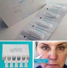 Within two minutes, #InstantlyAgeless reduces the appearance of under-eye bags, fine lines, wrinkles and pores. This specifically designed micro cream targets areas that have lost elasticity — revealing visibly toned, lifted skin.