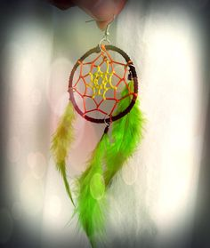 Dreamcatcher earrings - Handgjorda dreamcatcher örhängen...