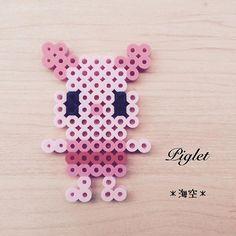 Piglet perler beads by kaisora0_0