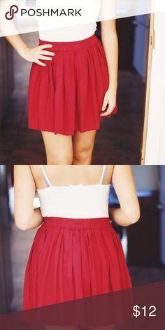 Red skirt Flowy pleated red skirt. Lorimer Skirts Mini