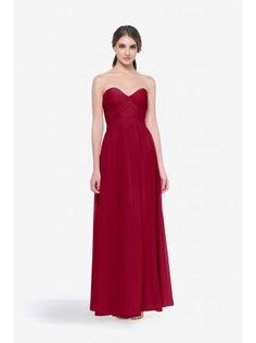 robe de soiree mousseline col en coeur