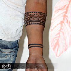 s tattoo studio 09974432274 www. Maori Tattoo Arm, Tribal Band Tattoo, Tribal Forearm Tattoos, Wrist Band Tattoo, Body Art Tattoos, Hand Tattoos, Sleeve Tattoos, Thai Tattoo, Tatoos