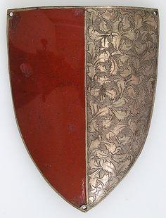 Messenger's Badge Date: 15th century Culture: South German Medium: Copper alloy, silver, enamel Dimensions: H. 4 1/2 in. (11.4 cm); W. 3 3/8 in. (8.6 cm); D. 11/16 in. (1.7 cm) Metropolitan Museum