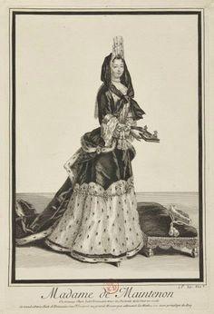 Antoine Trouvain (1652-1708), Françoise d'Aubigné, marquise de Maintenon (1635-1719). Gravure à l'eau forte © Château de Versailles (dist. RMN-Grand Palais) / C. Fouin