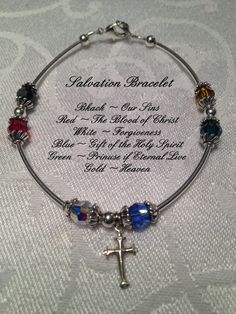 Salvation Prayer Bracelet Swarovski and Stering by BayouJewelry, $30.00