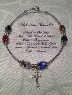 Salvation Prayer Bracelet Swarovski and Stering by BayouJewelry, $30.00