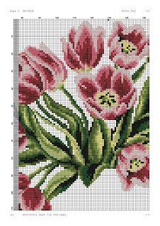 Kanaviçe-dantel işleri: Lale desenli kanaviçe seccade modeli Cross Stitch Rose, Cross Stitch Flowers, Prayer Rug, Cactus Plants, Prayers, Crochet, Crafts, Green Beans, Vegetables