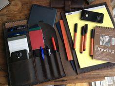 Portfolio Organizer Leather planner writing par LUSCIOUSLEATHERNYC
