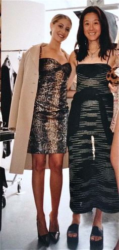 Pictured with Vera Wang backstage at a bridal photo shoot for New York Magazine's Fall Fashion Issue, 1997