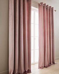 Memphis Velvet Lined Eyelet Curtains