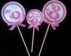 Pink Elephant Baby Shower Party Package Pink by colorsandpixels