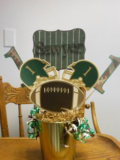 #Baylor Football Party Centerpieces