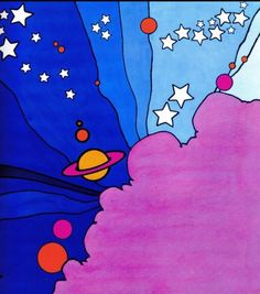 Peter Max wallpaper background space galactic saturn