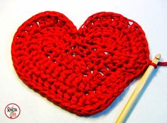 El Rincón de Teo: Cómo hacer un Cesto de Trapillo en forma de Corazón!! Tutorial DIY paso a paso!