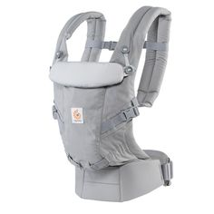 Ergo Adapt Baby Carrier in Pearl Grey | Carries Newborn's and Toddler's, Effortlessly!