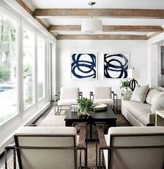 Blue Rings by Mary Elizabeth Peterson seen at Private Residence, Sea Island | Wescover