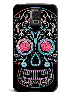 Floral Sugar Skull Case for Galaxy S5