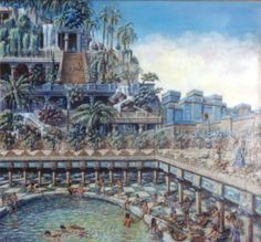 The Hanging Gardens of Babylon - one of many representations of the famous gardens