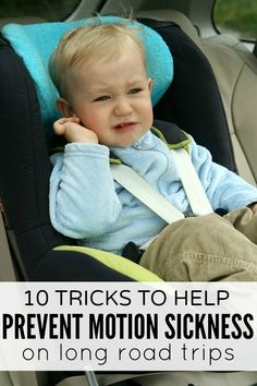 If the mere mention of the word 'road trip' makes you (or your kids) gag, check out these 10 simple tricks that help prevent motion sickness in cars. And make sure to give # 8 a try - it saved my life during a particularly rough boat ride once!