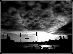 Black and white photography: And sky with William Blake's monsters n teddy bears...
