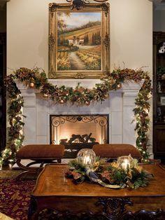 Decoração de Natal em tons de dourado.  Fotografia: http://www.decorfacil.com
