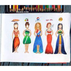 Pop dresses #CokeNEVERpepsi ;)