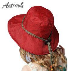 37bdcf7097f 2017 New Women s Cotton Linen Sun Hats Summer Beach Hat Panama Caps 12  Solid Colors Z