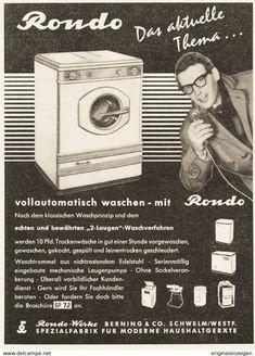 OriginalWerbung/Anzeige 1955 SCHARPF WASCHMASCHINEN