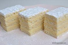 Prajitura Alba ca zapada reteta clasica Savori Urbane (1) Beignets, Cake Cookies, Cornbread, Vanilla Cake, Creme, Deserts, Food And Drink, Cooking Recipes, Sweets