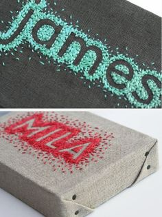 Reverse embroidered names