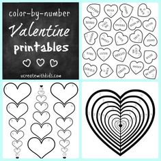 Free Valentines Color by Number Pages  Valentine colors