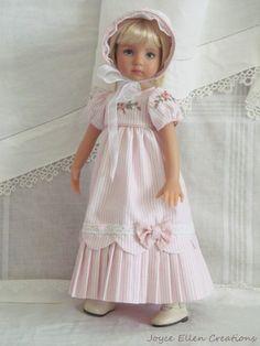 """13"""" Effner Little Darling BJD fashion Pink Regency gown OOAK handmade by JEC"""