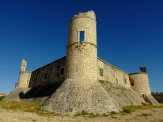 """CASTLES OF SPAIN - Chinchón Castle, in the province of Madrid. The present castle was preceded by an earlier castle built at the end of the 15th century which was destroyed by """"The Commoners"""" in 1521 after a long siege. At the beginning of the 18th century, during the War of Spanish Succession, the castle was looted and abandoned. One century later it was burned by a Polish brigade fighting for Napoleon during the War of Independence."""