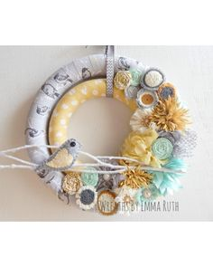 Double Wrapped Fabric Wreath | CraftOutlet.com Photo Contest - Wreaths by Emma Ruth