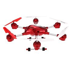HUAJUN W60910 45CH 24G with Six Axis Gyro 360 Rotating RTF RC Helicopter Drone UFOMiddle SizeWith 03MP CameraRed ** Want additional info? Click on the image.