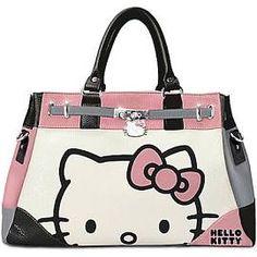 Hello Kitty Face of Fashion Handbag with Charm
