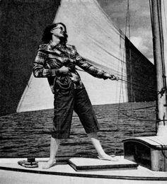 northwest vacation, life magazine, 1946 ~ Sailing was my favorite thing on the US East Coast ~