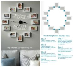 Time spent with family clock and instructions how to hang! #uppercaseliving #clock #timespentwithfamily                                                                                                                                                      More