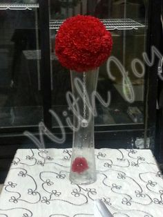 Carnation ball centerpiece / withjoyinc.com