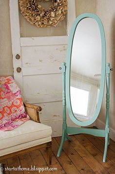 free standing mirror makeover - Google Search
