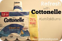 Let's Refresh a Bit with Cottonelle + $1.50 Coupon #LetsTalkBums