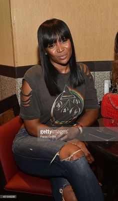 TV personality Marlo Hampton attends 'Straight Outta Compton' VIP screening with director/producer F. Gary Gray, producer Ice Cube, executive producer Will Packer and cast members at Regal Atlantic Station on July 2015 in Atlanta, Georgia. Real Style, Love Her Style, Celebrity Pictures, Celebrity Style, Culture Clothing, Straight Outta Compton, Black Girl Fashion, Women's Fashion, Ludacris